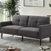 Modern Sectional Sofa Corner Couch Reversible Chaise Ottoman Linen Fabric Grey