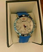 Wenger Swiss Made Watch Sea Force Arctic Light Blue Band In Box