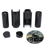 Motorcycle Upper And Lower Fork Boot Covers Tube Caps For Harley Softail Breakout