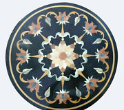 18 Black Marble Coffee Table Top Inlay Mosaic Floral Outdoor Home Decors B814