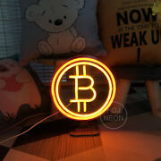 Bitcoin Led Usb Neon Sign Cool Light Decorations Accessories Bedroom Home Party