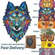 1pc Animal Shaped Wooden Puzzle Jigsaw Puzzles Adults Improve Concentration Puzz