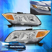 For 12-15 Civic Fb6 4dr / 12-13 Fg4 2dr Replacement Headlights Lamps Pair Clear