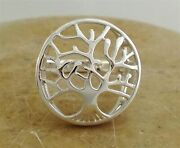 Large .925 Sterling Silver Tree Of Life Ring Size 8 Style R1861
