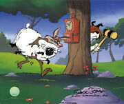 Warner Brothers-limited Edition Cel-ewe Thief-wile Coyote And Sheepdog