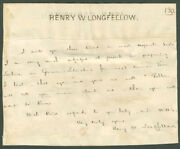 Henry Wadsworth Longfellow - Autograph Letter Signed With Co-signers
