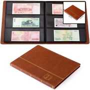 Leather 60 Pocket Paper Money Album Currency Holders For Collectors Collection S