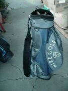 Excellent Nike Golf Blue And Gray 5 Way Cart Golf Bag No Problems 36x9 Inch Jcc