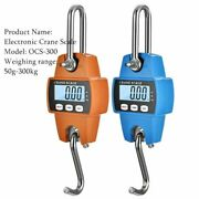 Crane Scale Weight 300kg Heavy Hanging Hook Scales Portable Digital Stainless