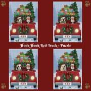 Christmas Honk Honk Red Truck Dogs Cats Photo Jigsaw Puzzle With Tin