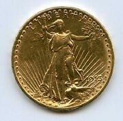 1913-d 20 St Gaudens Double Eagle Gold Coin Polished