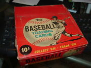 1967 Topps Gum Co. Baseball Card Empty Display Box 10 Cents Rarely Seen