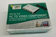 Grandtec Gxp-2000 Pc To Tv Pc To Video Component Computer To Tv Vc Projector New