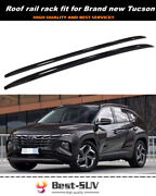 2pcs Roof Rail Carrier Rack Fit For Hyundai Tucson 2021 2022 Baggage Luggage Bar