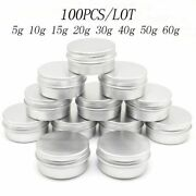 Empty Container Tin Eye Cream Jars Metal Skin Care Beauty Product Aluminum Round