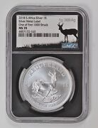 2018 S. Africa Rand Ngc Ms-70 Silver Metal Label One Of First 1000 Struck