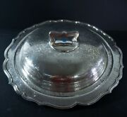 Barbour Sterling, Hand Chased Repousse Serving Dish.