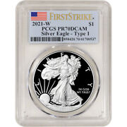 2021 W American Silver Eagle Proof - Pcgs Pr70 Dcam First Strike