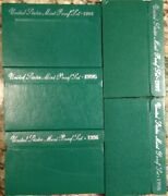 Complete Run Of Five And039green Boxand039 Us Proof Sets 1994s 1995s 1996s 1997s And 1998s.