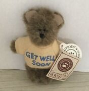 Boydand039s Bears Mini Message Plush Bear Get Well Soon Mona 567012 New With Tag