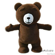 Inflatable Brown Bear Mascot Costume Suit Party Game Xmas Easter Adult Halloween