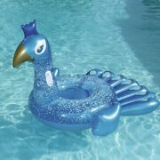 Adult Giant Inflatable Peacock Swimming Pool Float Air Mattress Water Fun Toys