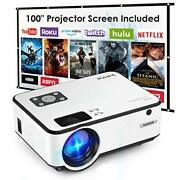 Mini Projector Shimor C9 Portable Movie Projector With 100inch Projector Scre...