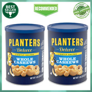 2 Pack Planters Deluxe Lightly Salted Whole Cashews 18.25 Oz Canister