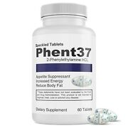 Phent37 Weight Loss Fat Burner Appetite Suppressant 37.5 Diet Pill