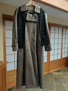 London Fog Double Breasted Lined Trench Coat With Assorted Scarf