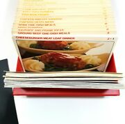 Vintage Better Homes And Gardens Recipe Card Index Library Cookbook Box Red