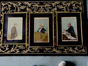 Lot Of 3 Vanity Fair 1874 Original Colored Lithographs Attorneys Framed.