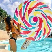Adults Inflatable Lollipop Pool Float Swim Ring Air Lounger Mattress Party Toy