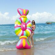 Adults Color Pool Swimming Float Inflatable Pvc Candy Water Fun Party Toys 104cm