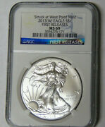 Ngc Ms69 2013w American Silver Eagle First Releases Struck At West Point