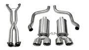 2.5in. Cat-back Dual Rear Exit With Twin 3.5in. Polished Pro-series Tips 14469c