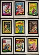 1974 Topps Wacky Packs Series 11 Complete Set 30/30 Vg Packages Decay Gulp Mud