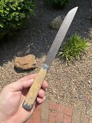 """Amazing 12 1/8"""" Long Historic Indian Early Fur Trade Era Knife Museum Collection"""