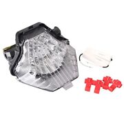 Motorcycle Led Clear Tail Brake Lights Taillamp For Yamaha Fz-07/mt-07 2014-2017