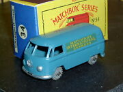 Matchbox Moko Lesney Volkswagen Vw Microvan 34 A1 Mw F-c Sc1 Nm And Crafted Box