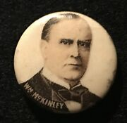 Early 1896 William Mckinley Political Pinback 7/8andrdquo Pin Whitehead Hoag Button Us