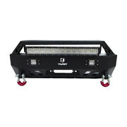 Used Fit For 4runner 2010-2020 Black Steel Front Bumper W/winch Plate And Lights