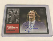 2021 Topps Trevor Lawrence Art Collection On Card Auto Card 7 Ssp /5