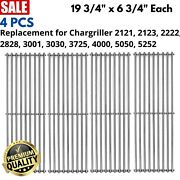 4pc Stainless Steel Grid Grate For Chargriller Bbq 2121-2222-3030-3725-4000-5050