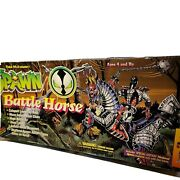 1995 Mcfarlane Toys Spawn Battle Horse And Special Edition Medieval Spawn Figure