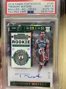 2019-20 Contenders Rookie Ticket Cracked Ice Tremont Waters 145 Psa Mt 9 24/25