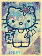Shepard Fairey Hello Kitty Signed Limited Edition Screen Print Obey Giant