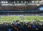 4 Tickets Green Bay Packers @ Detroit Lions 1/9 Sec 127 Row 38 Aisle
