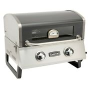 Outdoor Tabletop Stainless Steel 2 Burner Propane Gas Grill Portable Bbq Griller