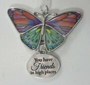 Qqm You Have Friends In High Places Blissful Journey Butterfly Ornament Ganz